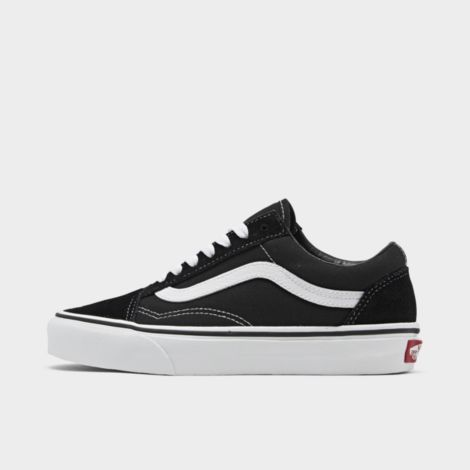 Big Kids' Old Skool Casual Shoes in Black Size 5.0 Canvas/Suede by Vans