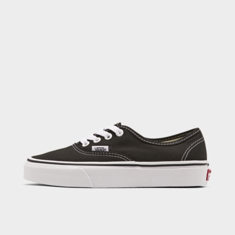 Big Kids' Authentic Casual Shoes in Black Size 4.5 Canvas/Lace by Vans