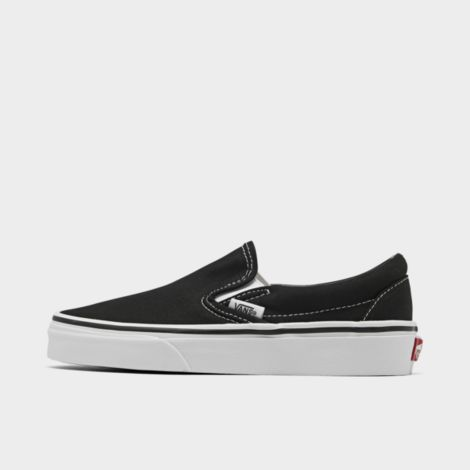 Big Kids' Classic Slip-On Casual Shoes in Black Size 7.5 Canvas by Vans