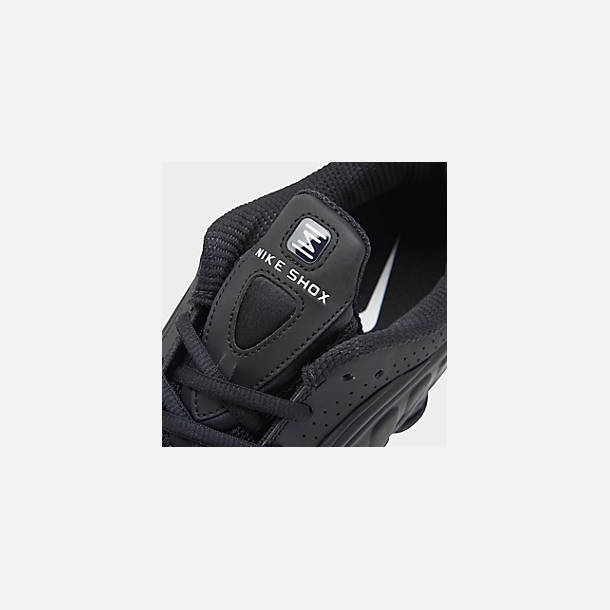 quality design dc692 0265f Front view of Men s Nike Shox R4 Running Shoes in Black Black Black