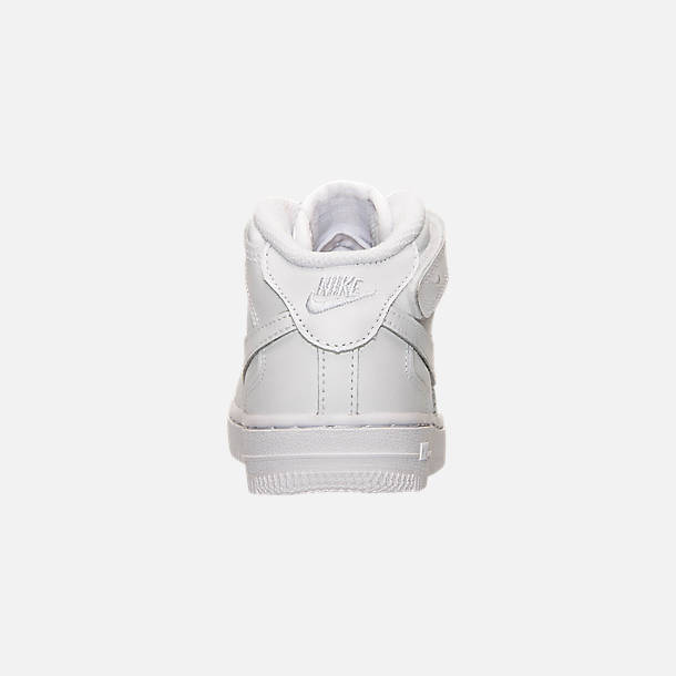 9cc5ff4429 Back view of Toddler Nike Air Force 1 Mid Basketball Shoes in White