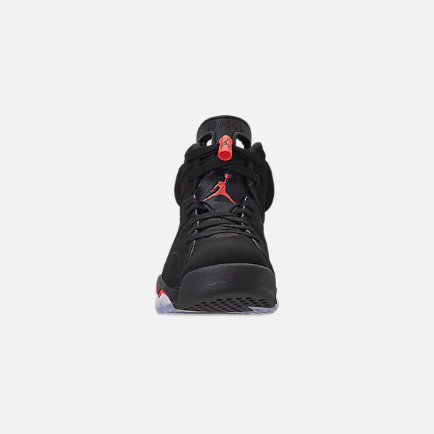 classic 40cbd d31d2 Front view of Men s Air Jordan Retro 6 Basketball Shoes in Black Crimson