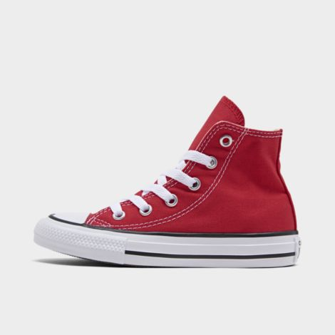 Boys' Little Kids' Chuck Taylor Hi Casual Shoes in Red Size 3.0 Canvas by Converse