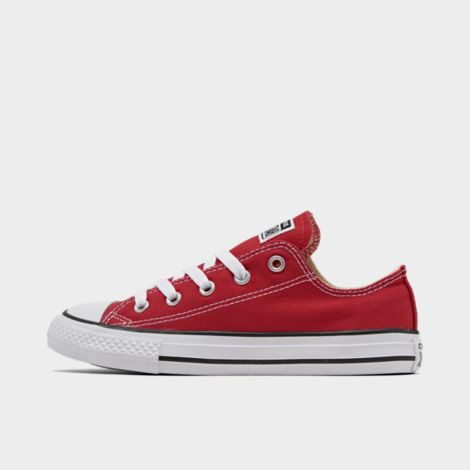 Boys' Little Kids' Chuck Taylor Low Top Casual Shoes in Red Size 1.0 Canvas/Lace by Converse