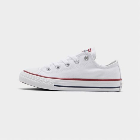 Boys' Little Kids' Chuck Taylor Low Top Casual Shoes in White Size 3.0 Canvas/Lace by Converse
