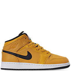 Big Kids' Air Jordan 1 Mid Basketball Shoes