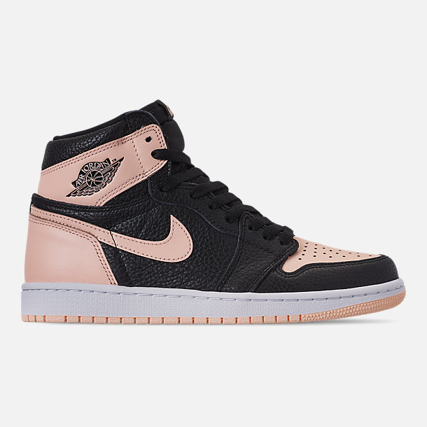 new product 6c722 2661c Right view of Men s Air Jordan Retro 1 High OG Basketball Shoes in Black  Crimson