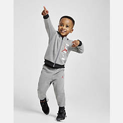 Kids' Infant and Toddler Jordan Full-Zip Hoodie and Pants Set