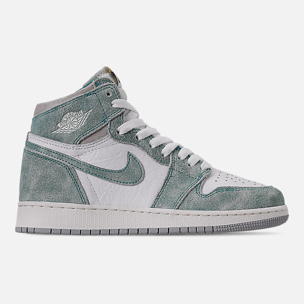 detailed look c5e6d 4c3b4 Right view of Big Kids  Air Jordan Retro 1 High OG Basketball Shoes in Turbo