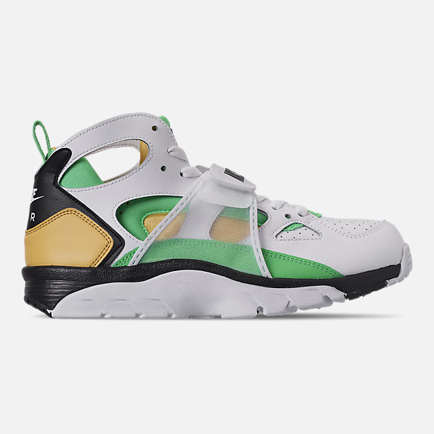 new arrival b45f5 e7acd Right view of Men's Nike Air Trainer Huarache Training Shoes in  White/Electro Green/