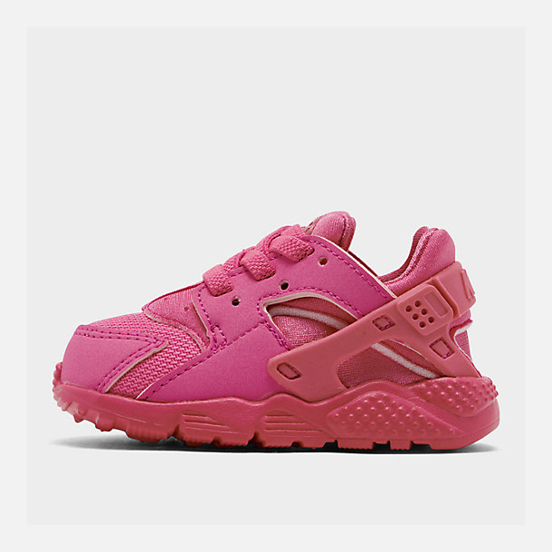 Right view of Girls' Toddler Nike Huarache Run Casual Shoes in Laser Fuchsia/Laser Fuchsia Femme