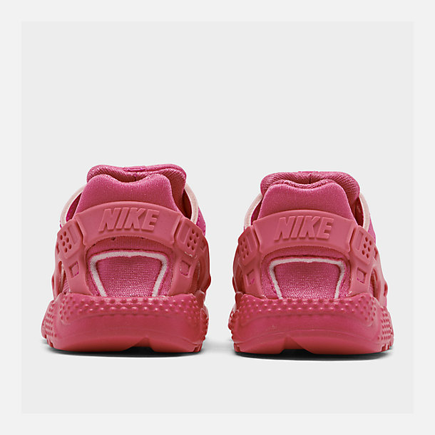Left view of Girls' Toddler Nike Huarache Run Casual Shoes in Laser Fuchsia/Laser Fuchsia Femme