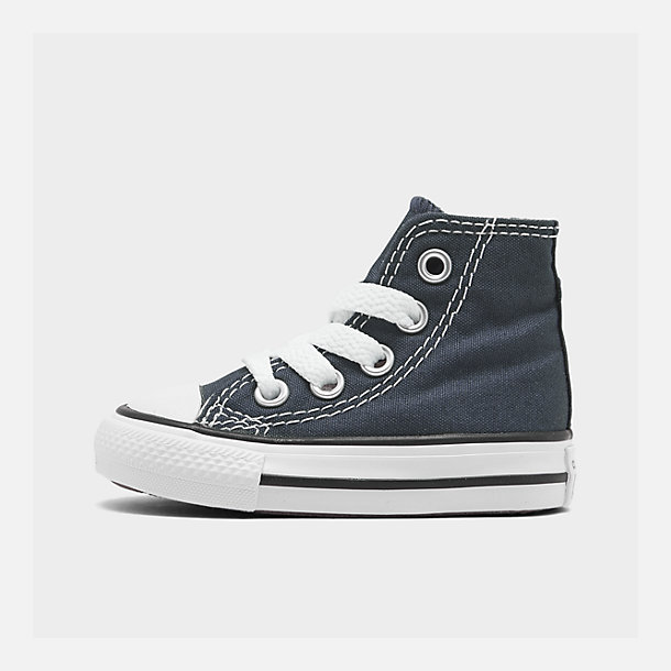 Right view of Kids' Toddler Converse Chuck Taylor Hi Casual Shoes in Navy