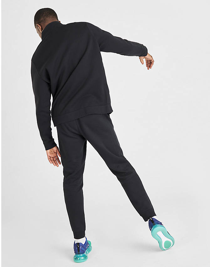 Back Left view of Men's Nike Sportswear Fleece Track Suit in Black
