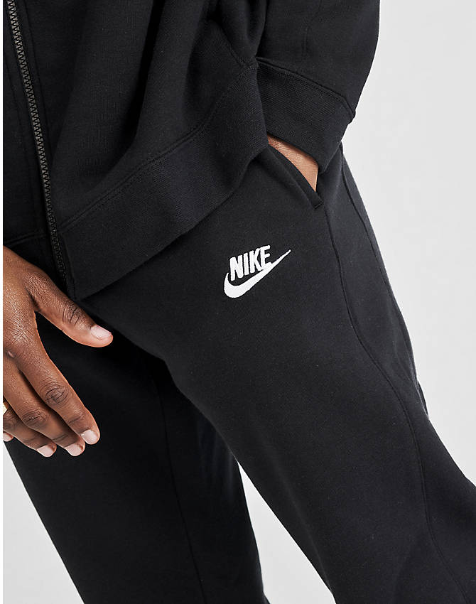 On Model 5 view of Men's Nike Sportswear Fleece Track Suit in Black