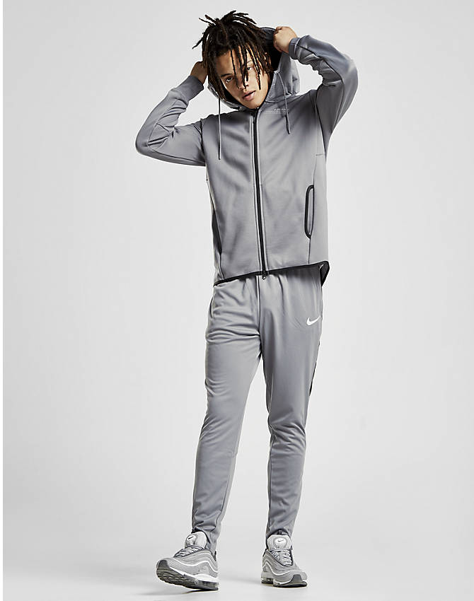 Front Three Quarter view of Men's Nike Air Max Full-Zip Hoodie in Grey
