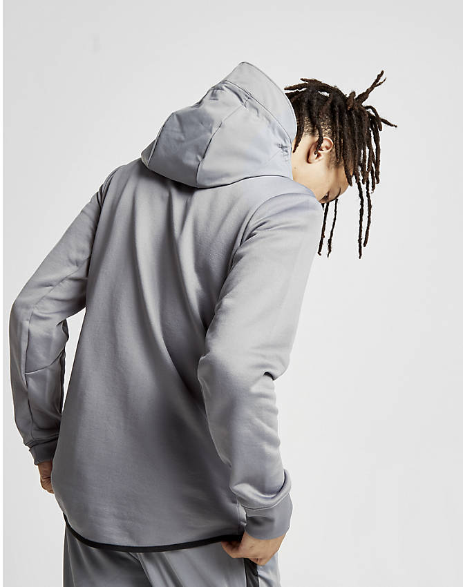 On Model 5 view of Men's Nike Air Max Full-Zip Hoodie in Grey