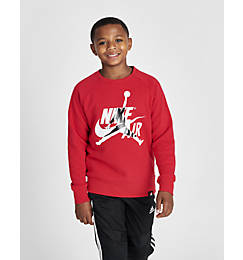 Boys' Jordan Mashup Jumpman Classics Fleece Crewneck Sweatshirt