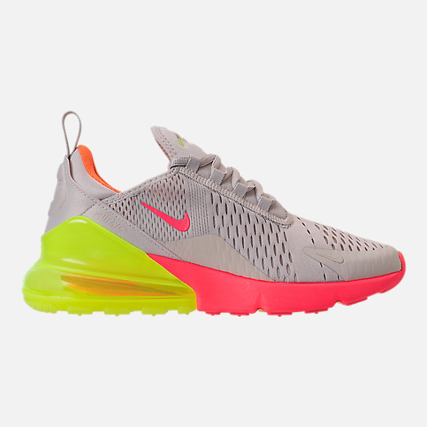 wholesale dealer 09a7d 47b66 Right view of Women s Nike Air Max 270 Casual Shoes in Desert Sand Hot Punch