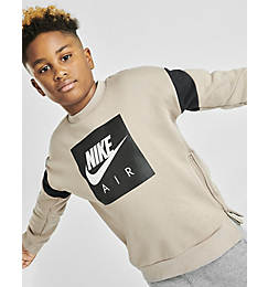 Boys' Nike Air Zippered Crewneck Sweatshirt