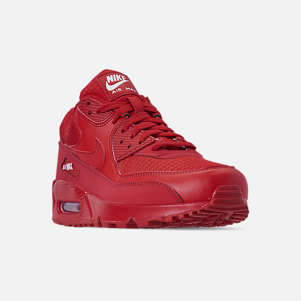 d5bf5454015cf Three Quarter view of Men s Nike Air Max 90 Essential Casual Shoes in University  Red
