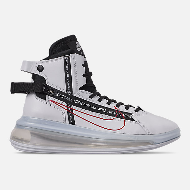 best service c9ff0 b6e0d Right view of Men s Nike Air Max 720 Satrn Basketball Shoes in White Black