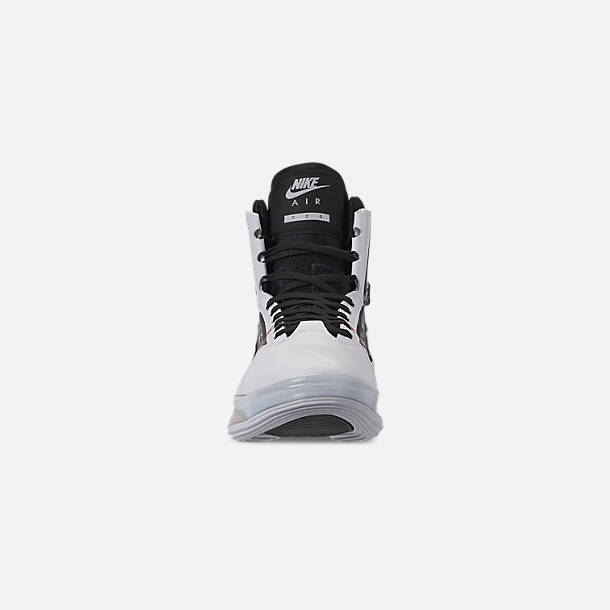 get cheap 92a47 02ca1 Front view of Men s Nike Air Max 720 Satrn Basketball Shoes in White Black