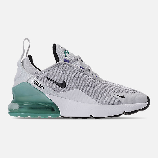 ef6bc1b863 Right view of Little Kids' Nike Air Max 270 Casual Shoes in Pure Platinum/