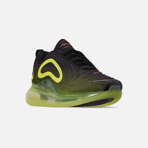 6a967630468c Three Quarter view of Men s Nike Air Max 720 Running Shoes in Black Bright  Crimson