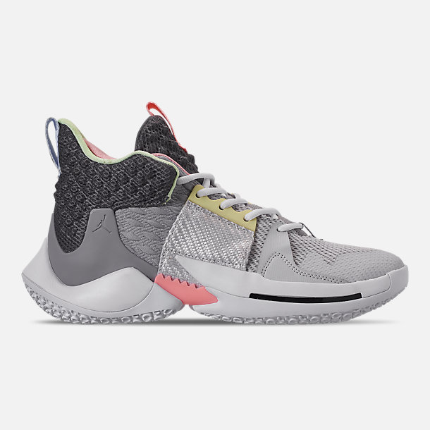 best authentic f662a 64ec5 Right view of Men s Air Jordan Why Not Zer0.2 Basketball Shoes in Vast Grey