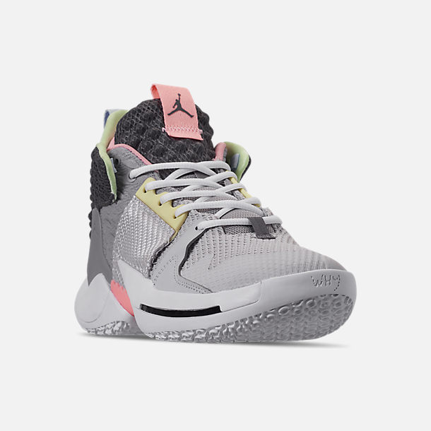 low priced e5224 9fe91 Three Quarter view of Men s Air Jordan Why Not Zer0.2 Basketball Shoes in  Vast
