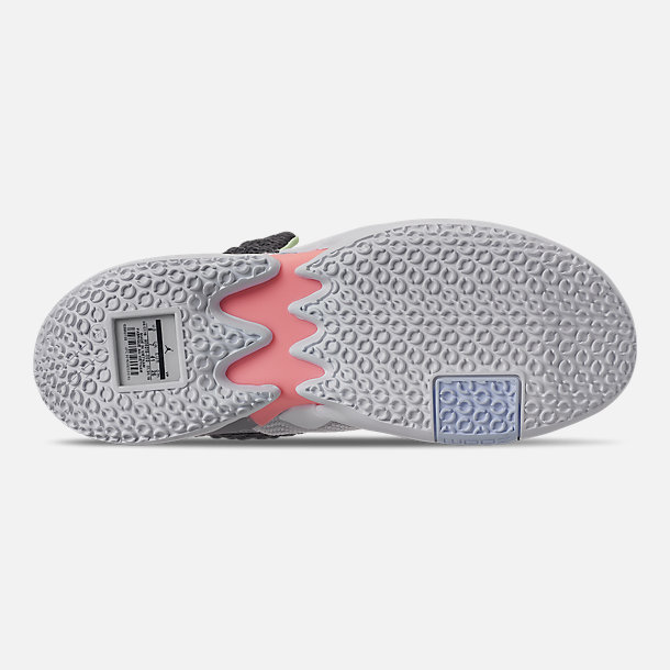 lowest price 340b0 c8b29 Bottom view of Men s Air Jordan Why Not Zer0.2 Basketball Shoes in Vast Grey