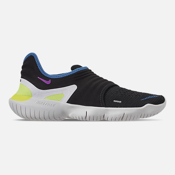 sale retailer 0c128 017c0 Right view of Men s Nike Free RN Flyknit 3.0 Running Shoes in Black Hyper  Violet