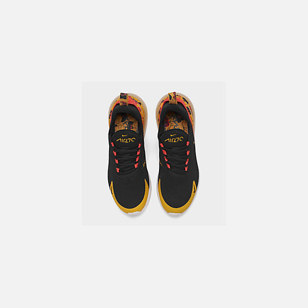 b9bb2521 Back view of Women's Nike Air Max 270 SE Casual Shoes in Black/University  Gold