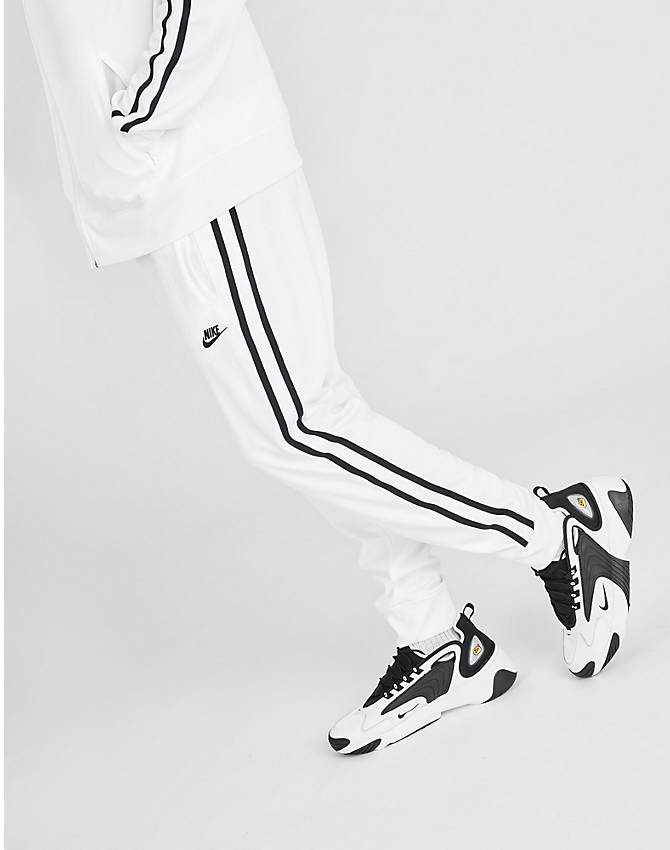 Front view of Men's Nike Sportswear Tribute Track Pants in White