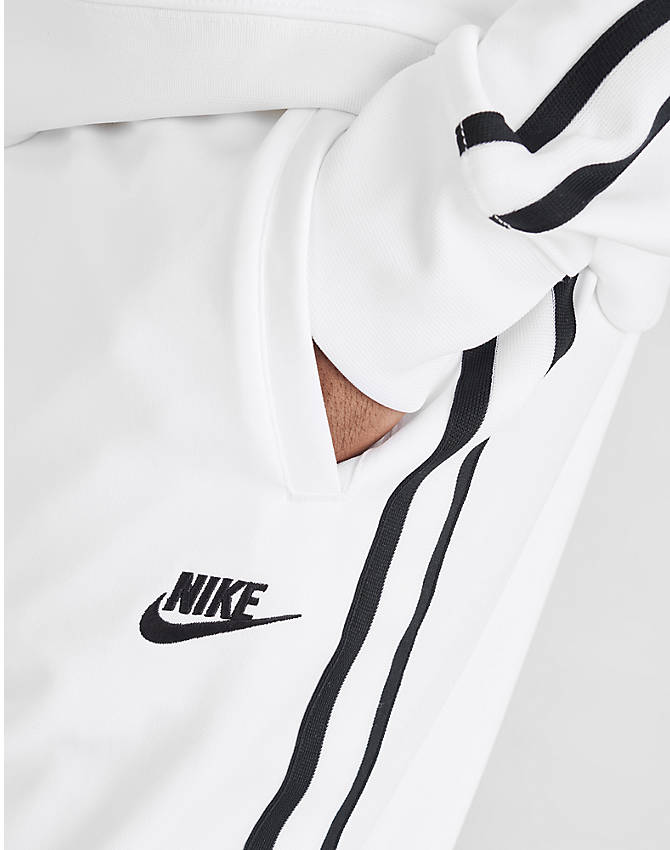 Back Right view of Men's Nike Sportswear Tribute Track Pants in White