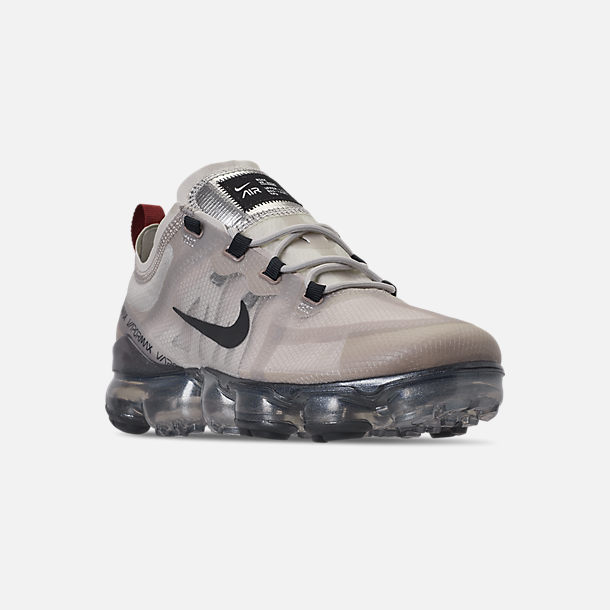 wholesale dealer 59dcc e194f Three Quarter view of Men s Nike Air VaporMax 2019 Running Shoes in Moon  Particle Anthracite