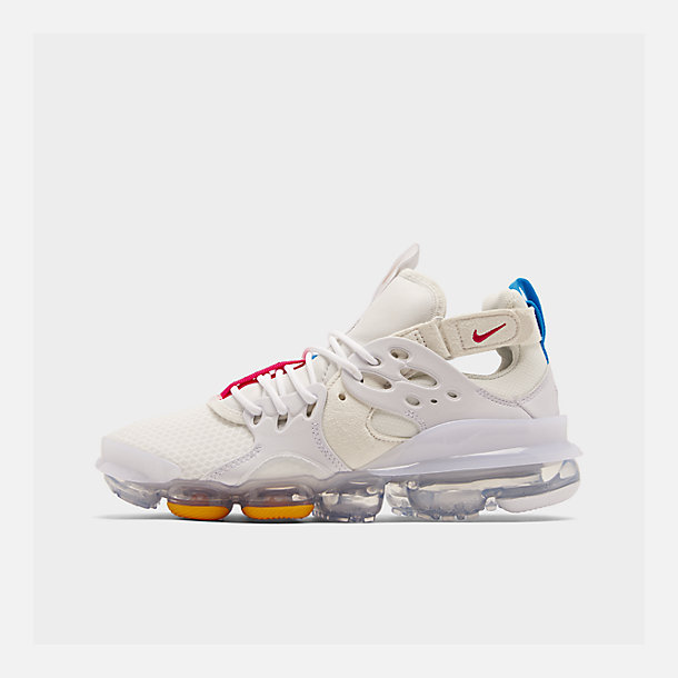 Right view of Men's Nike Air DVSM Casual Shoes in Summit White/Red Orbit/White/Battle