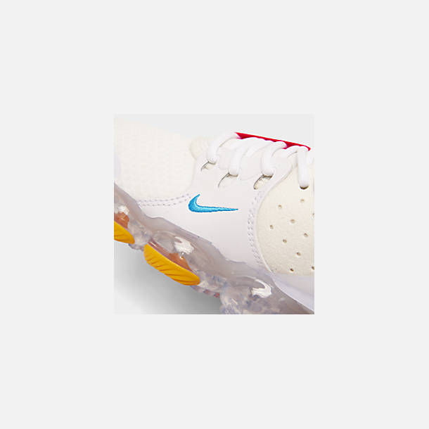 Front view of Men's Nike Air DVSM Casual Shoes in Summit White/Red Orbit/White/Battle