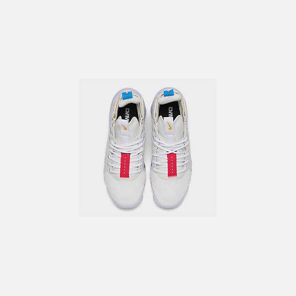 Back view of Men's Nike Air DVSM Casual Shoes in Summit White/Red Orbit/White/Battle