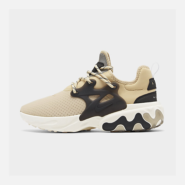 Right view of Men's Nike React Presto Running Shoes in Desert Ore/Black/Light Cream
