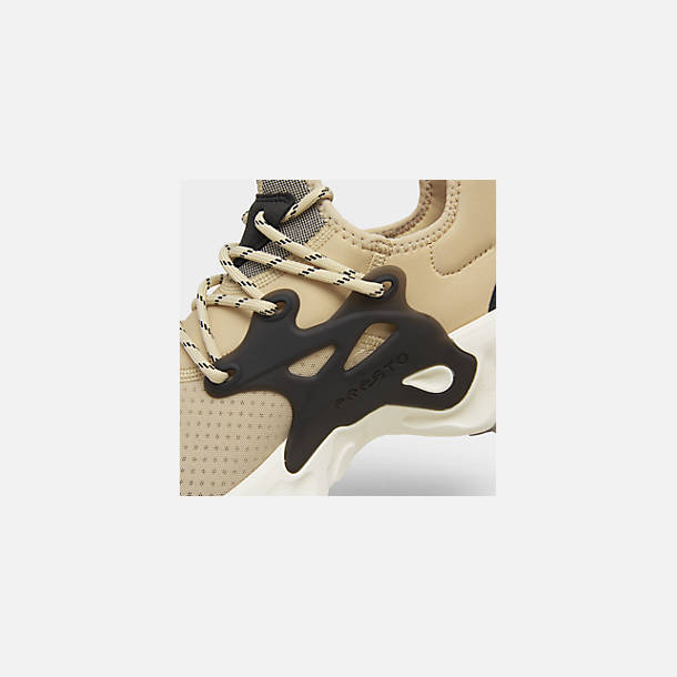 Front view of Men's Nike React Presto Running Shoes in Desert Ore/Black/Light Cream