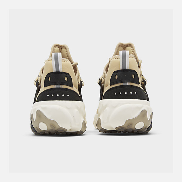 Left view of Men's Nike React Presto Running Shoes in Desert Ore/Black/Light Cream