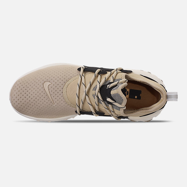 Top view of Men's Nike React Presto Running Shoes in Desert Ore/Black/Light Cream