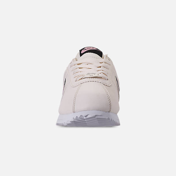 d993ccfc6e Front view of Girls' Big Kids' Nike Cortez Basic Leather Casual Shoes in  Pale