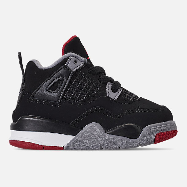 ac1a1a6f9a63 Right view of Kids  Toddler Air Jordan Retro 4 Basketball Shoes in Black  Fire