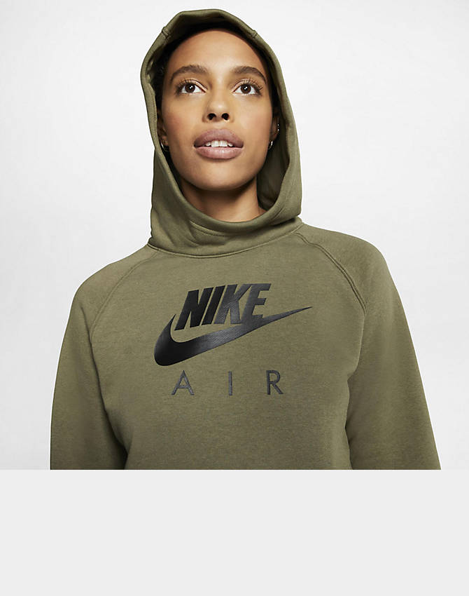 Nike Air Damen Kapuzenpullover medium oliveblack BV5132 222