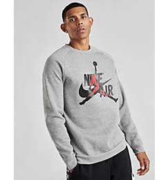 Men's Jordan Mashup Jumpman Classics Fleece Crewneck Sweatshirt
