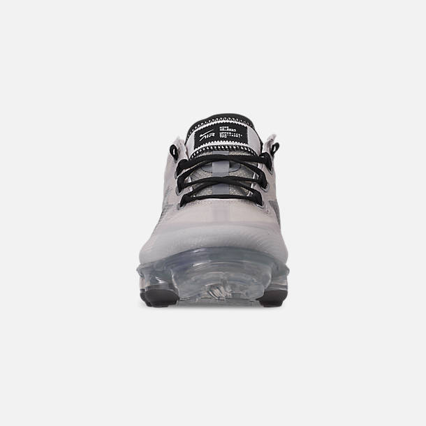 Front view of Women's Nike Air VaporMax 2019 SE Running Shoes in Vast Grey/Black/Metallic Silver