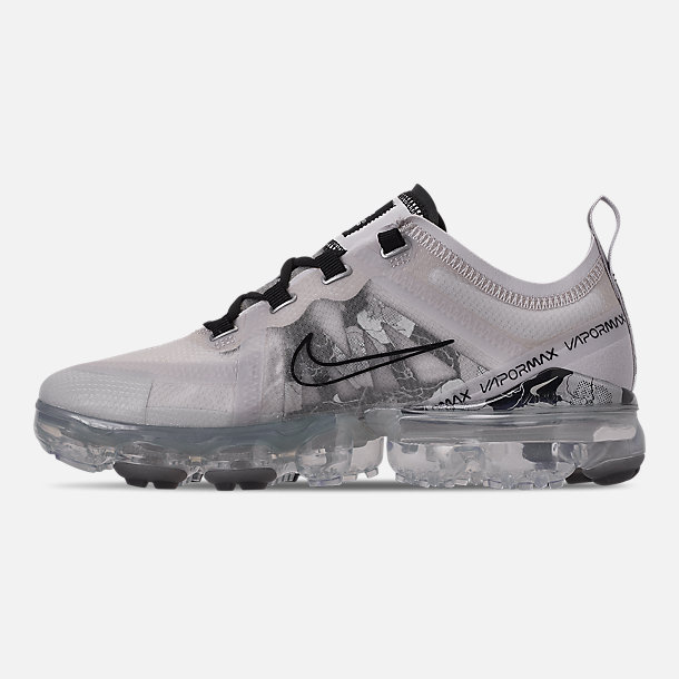 Left view of Women's Nike Air VaporMax 2019 SE Running Shoes in Vast Grey/Black/Metallic Silver